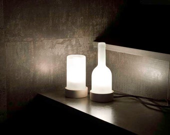 Recycled glass lamp, Table lamp recycled bottle  by VERDE BOTELLA