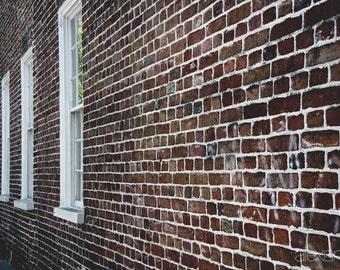 Photograph, Brick Wall Reflection