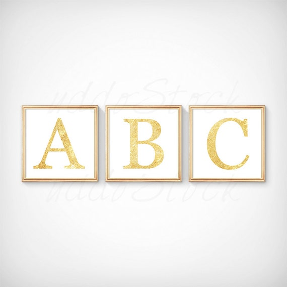 Gold Square Wall Decor : Set of square gold frames for wall art display by uddostock