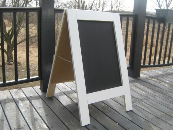 Wedding shower sandwich chalkboard Sidewalk sign A frame solid wood business menu chalkboard 40 x 25 inches.
