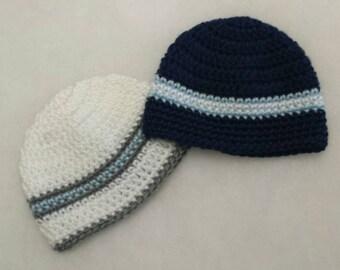 Newborn boy twin hats, twin gift set, baby shower gift set, baby boy hats, baby hats, newborn boy hats
