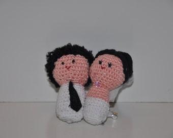 Mini honeymoon to clip or keychain