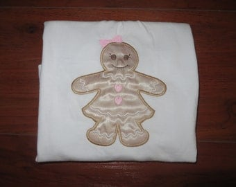 Gingerbread Girl Embroidered Tee