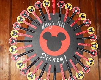 Disney Vacation Countdown - Disney Countdown Calender - Disney Vacation - Disney World Vacation - Disney Cruise - 30 day countdown