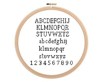 Alphabet - Cross stitch pattern, Alphabet Cross Stitch, Alphabet Pattern, ABC Cross Stitch Pattern, Letters Pattern, Stitch Letters