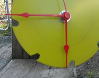 Recycled Sawblade Clock