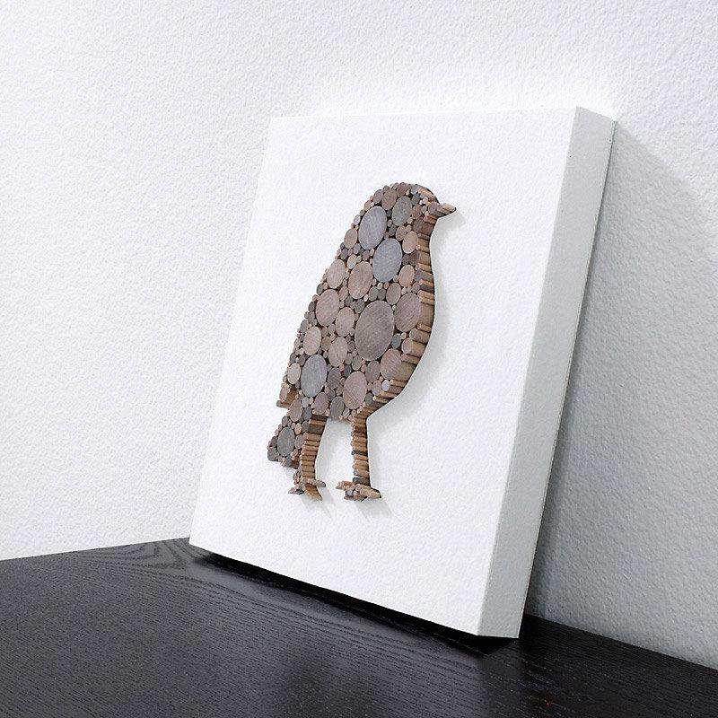 Silhouette Art 3d Modern Rustic Wall Decor Simple Wood Bird