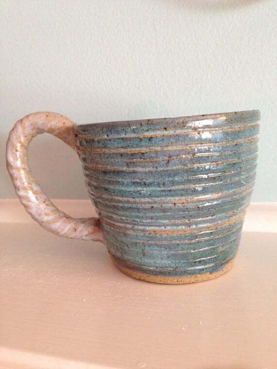 Sale Blue Mug A Ceramics Cup A Large Coffee Cup Or Tea Cup