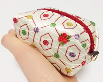 Pouch with Japanese patterns,Kimono pouch (Small)
