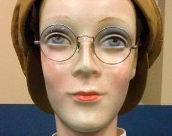 Antique Mannequin Display Head