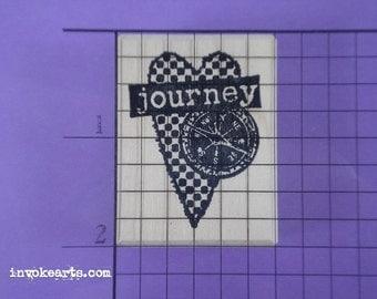 Journey Heart Stamp / Invoke Arts Collage Rubber Stamps