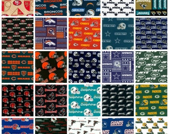 SALE **10 %off* CUSTOM Oversized NFL lap quilt. 60x72