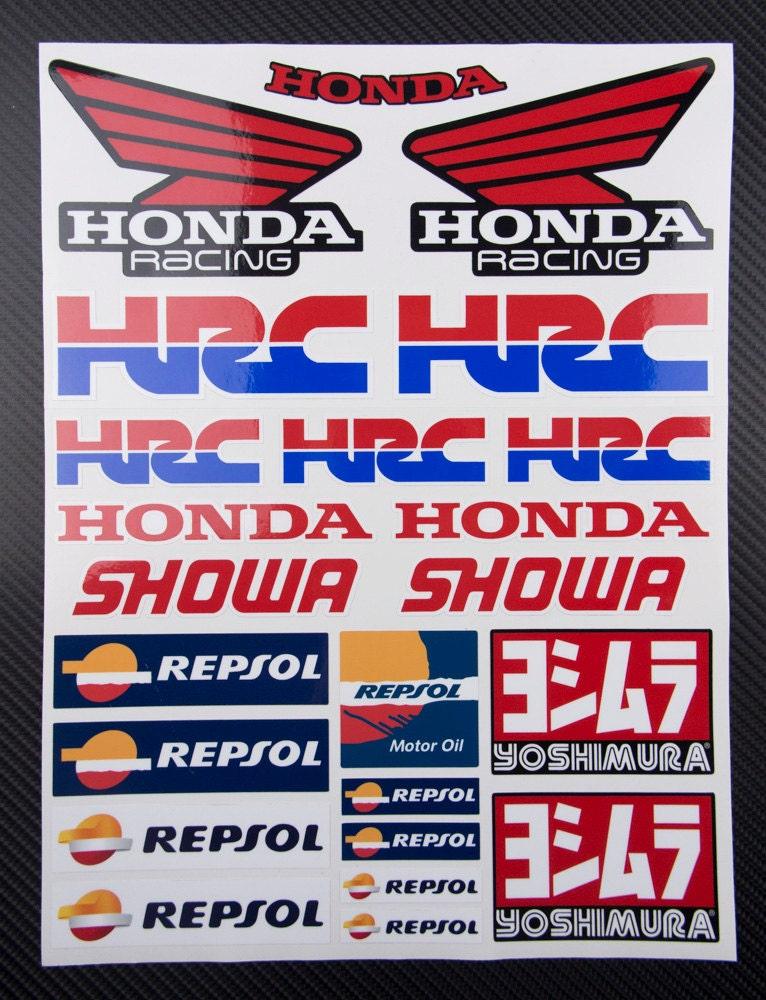 autocollants pour moto 23 honda hrc repsol sponsors. Black Bedroom Furniture Sets. Home Design Ideas