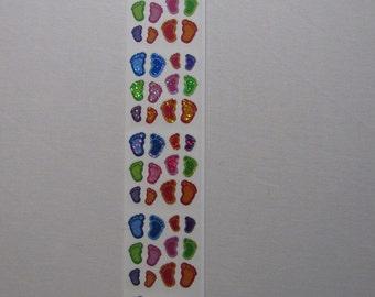 Footprints Scrapbooking Stickers