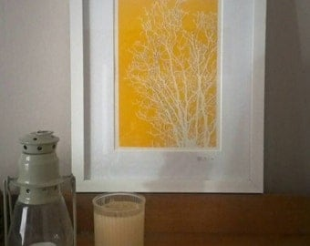 Large Tree. Original Handmade Paper cut art.