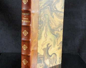 Leather bound book of SAINT EXUPERY | Terre des Hommes | Gallimard Paris France 1939 Edition