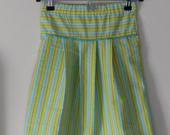 Modest Yellow and Blue Skirt
