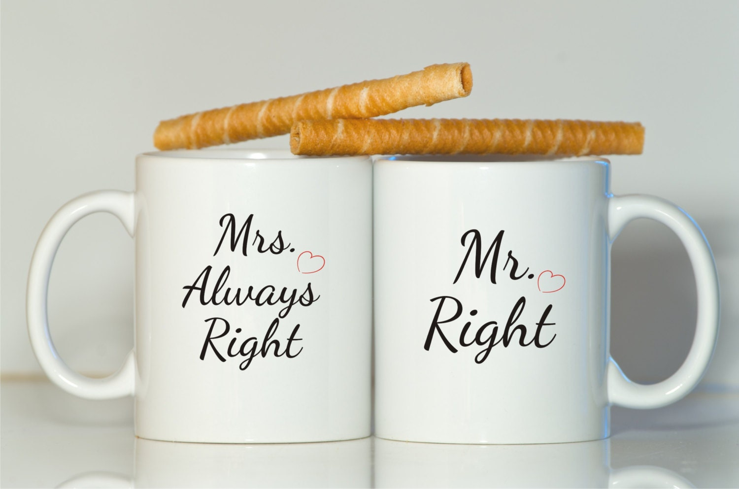 Mr right Mrs always right mug-Gift for wife-Gift for