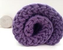 Beginners crochet kit baby blanket.  DIY crochet kit, Learn to crochet, super chunky bulky blanket, extreme crochet, crochet pattern K003