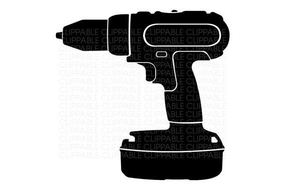 Power Drill Bit Clip Art : Items similar to cordless drill clip art digital