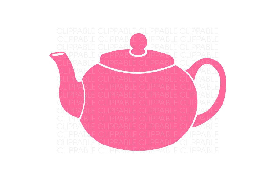 Small Round Teapot Clip Art Digital Graphics by Clippable