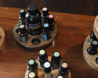 Solid Oak Essential Oils Holders
