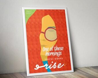 A3 Janis Joplin Poster Summertime, Janis Joplin Poster, Janis Joplin Artwork, Janis Joplin Print, Summertime theme