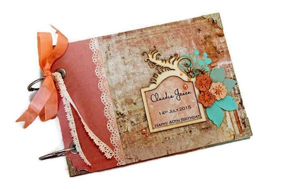 Anniversary scrapbook album jubilee gift