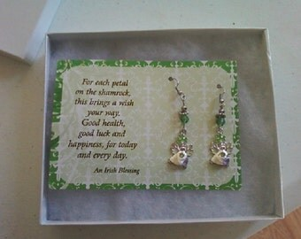 Irish Blessing Angel Earrings