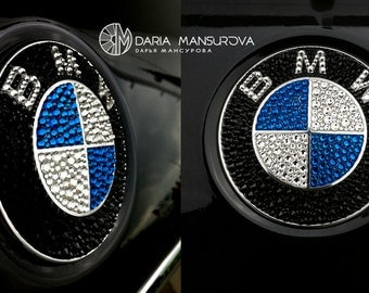 BMW badge with Swarovski Crystals/ Значок BMW с кристаллами Swarovski