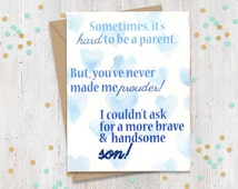 Brave and Handsome Son - Support Greeting Card - Coming Out - Transgender - Loving Card - FourLetterWordCards
