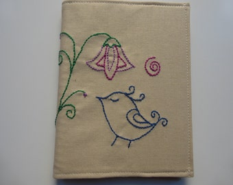 Hand Embroidered A6 Notebook Cover