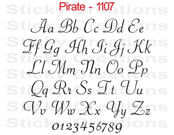 custom text pirate font script customized personalized letters name windshield decal sticker vinyl graphic rear back