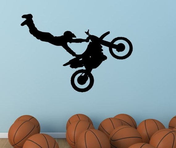 Dirt bike wall decal vinyl decal dirt bikes st004 for Dirt bike wall mural