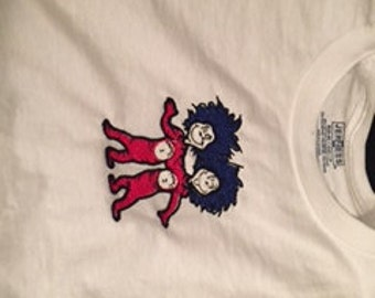 Embroidered Dr Seuss Tshirt - Why fit in..born to stand out or Thing 1/2 Option