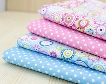 Handmade sewing fabric supply/baby fabric/cotton fabtic/blue/Pink Fabric/size:150*50CM