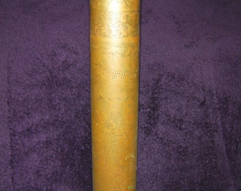 Vintage, WW1 Artillery Shell, Decorative Vase, Brass, Collectable.