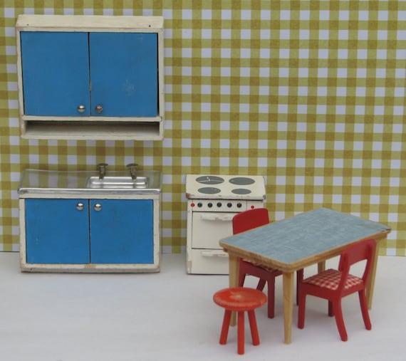 Maison de poup e cuisine vintage ann es 1950 1960 mobilier - Mobilier cuisine vintage ...