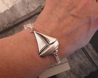 Sailboat Bracelet ~ Sailing Jewelry ~ Nautical Jewelry ~ Sailing Humor included