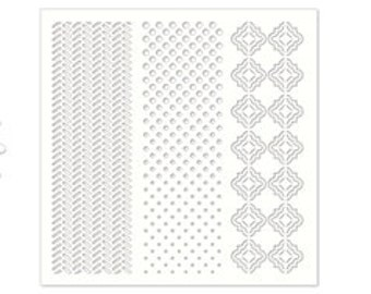 Dots Stencil, tiremarks stencil, Penny Black Stencil, OSCILLATIONS, for mixed media, ooak card, add texture to your papercrafts