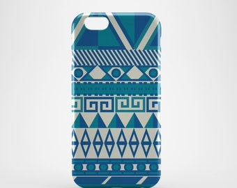 Blue Aztec Phone case,  iPhone X Case, iPhone 8 case,  iPhone 6s,  iPhone 7 Plus, IPhone SE, Galaxy S8 case, Phone cover, SS117a