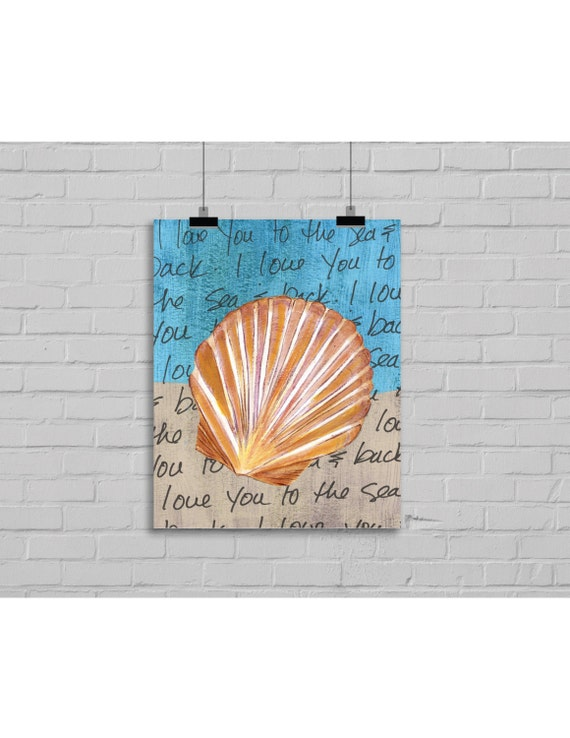 Seashell Print For Home Decor Nautical Themed By Fatdragonfly