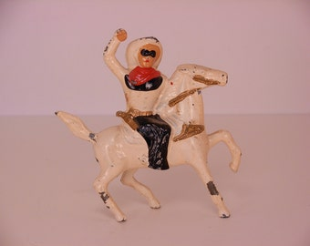 Vintage Cast Barclay Cowboy on Horse