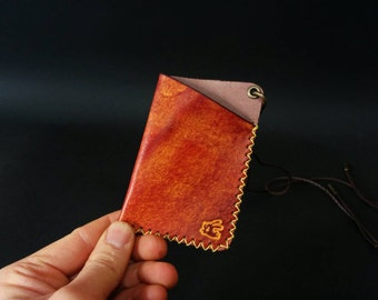 neck card case,leather card case,leather card holder,business card holder,mini leather wallet,small wallet,leather wallet,neck strap