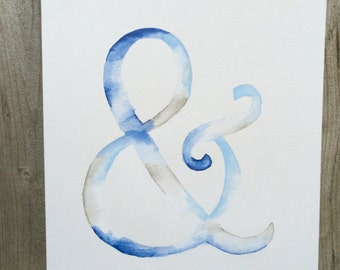 Watercolor Ampersand Painting
