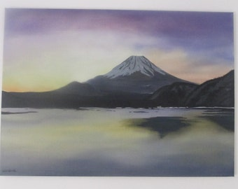 Oil landscape by furnishing -mount fuji-