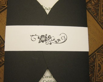 Set of 10 Wedding Invitations