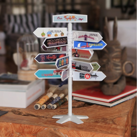 Such a fun way to display all the places you've traveled to!