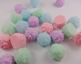 10pcs Kawaii resin sugar ball cabochon for phone decoden