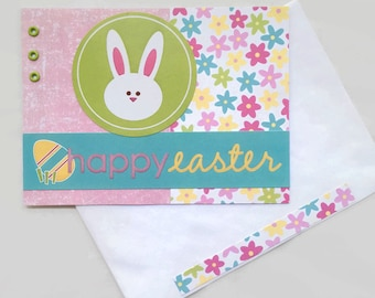 Cute Easter Card | Easter Bunny Card | Happy Easter | Handmade Card | Card for Easter